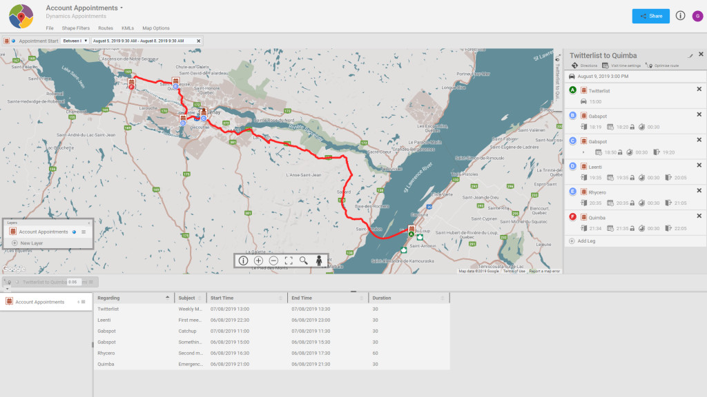 Plan routes