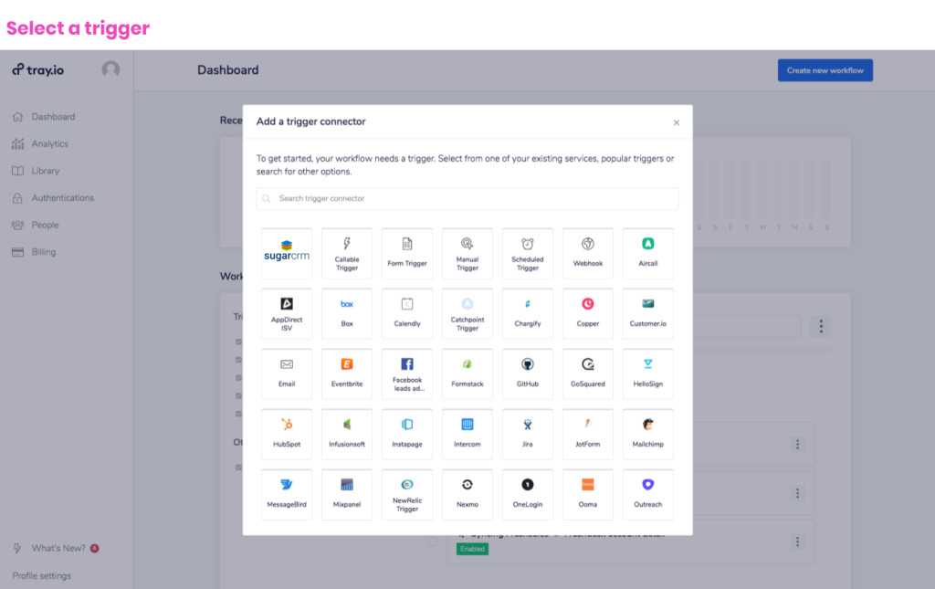 Choose from 350+ apps to connect SugarCRM with