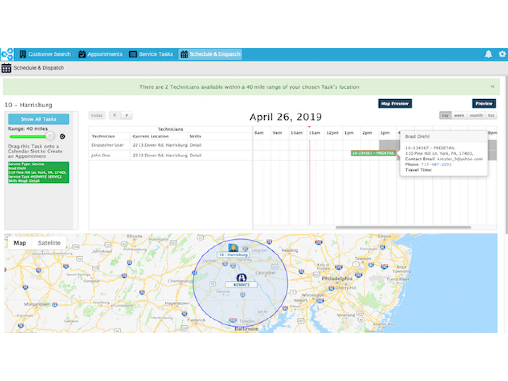 Dynamic Scheduling & Route Optimization
