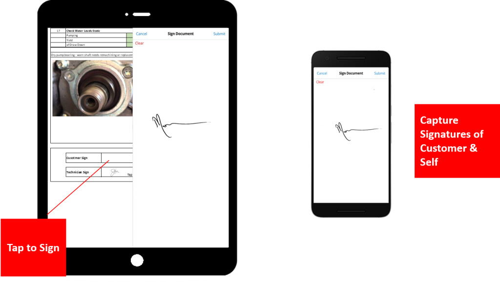 Complete checklists, add photos and collect signatures - all offline
