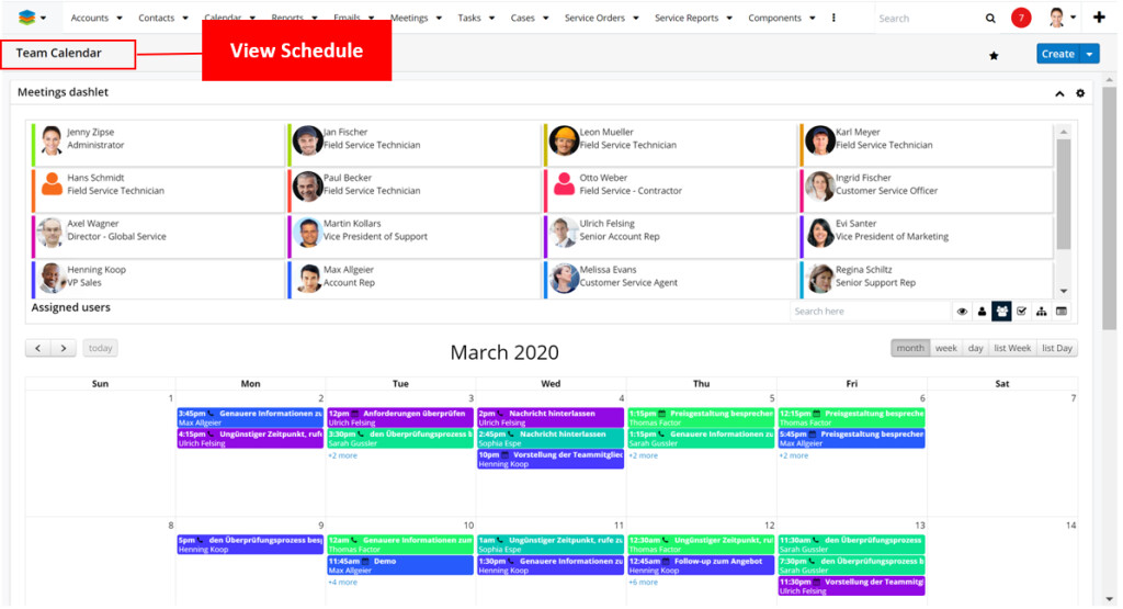 Scheduling assisted by calendar view (and Gantt view)