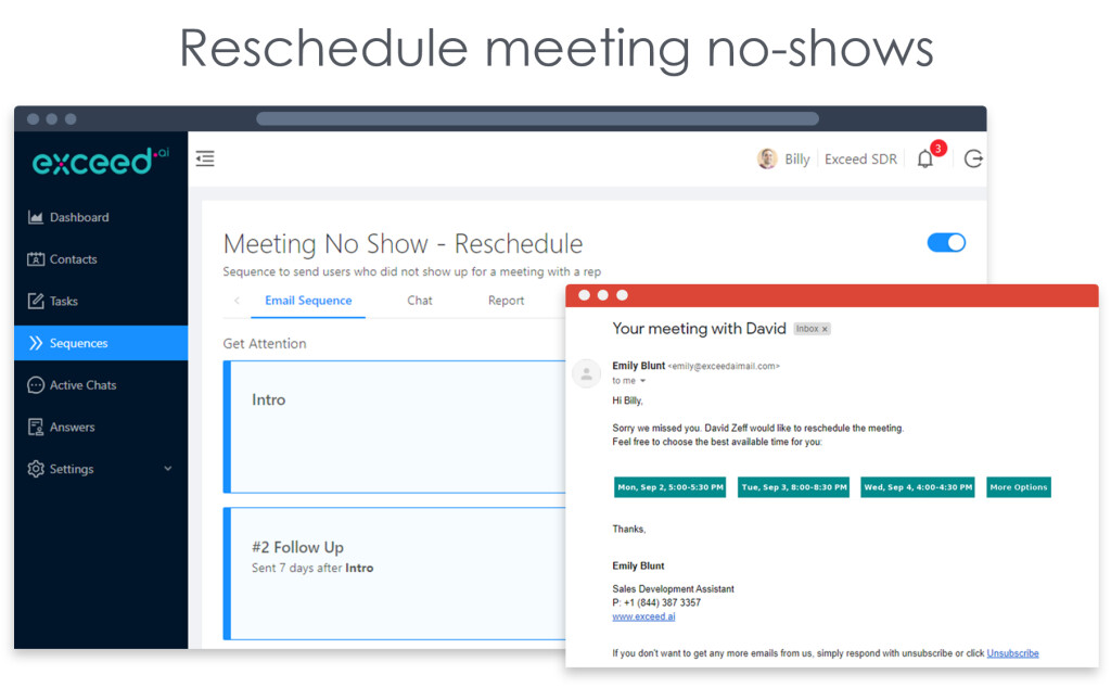 Automatically scheduled qualified meetings for your rep