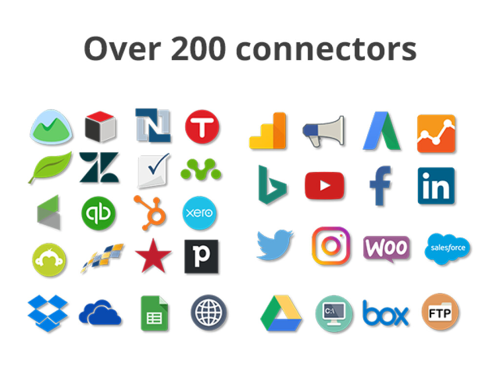 Hundreds of data connectors available