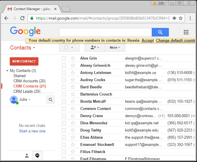 GMail with AGSync labels