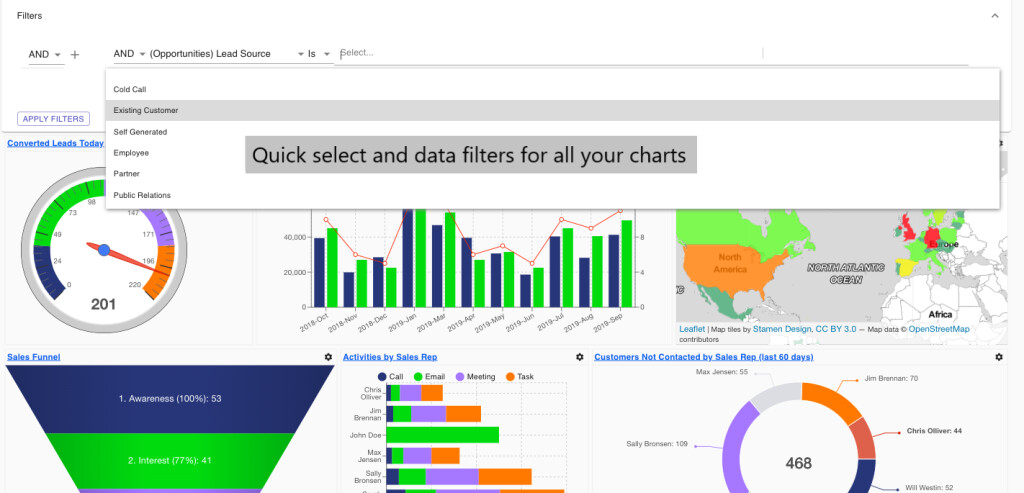 Common Filters for Dashboards