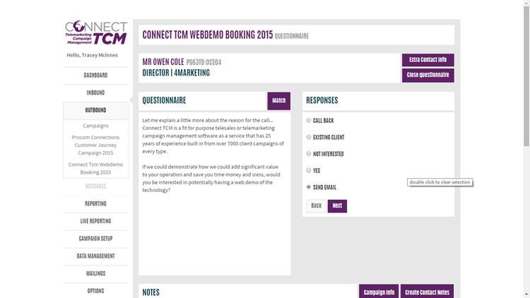 Campaign questionnaire