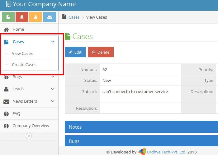 Customer Portal Cases