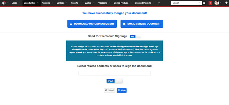 iPad and Remote Electronic Signing Support For All Major Signing Platforms (Echosign, Hellosign, Docusign)