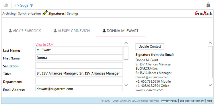 Email Signature Extraction