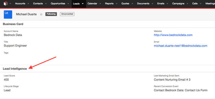 Rich HubSpot Marketing Data flowing continuously into SugarCRM.